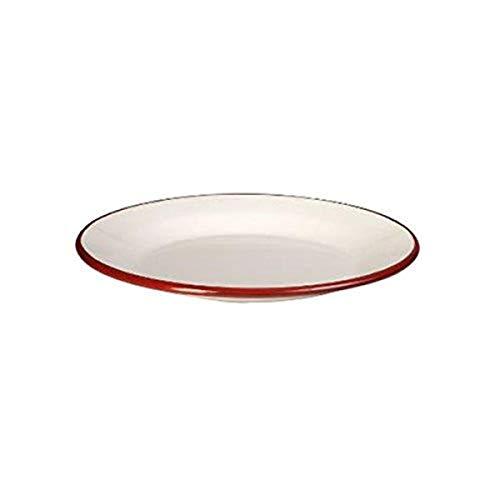 IBILI 908128 Assiette Plate, Verre, Blanc/Rouge, 28 cm