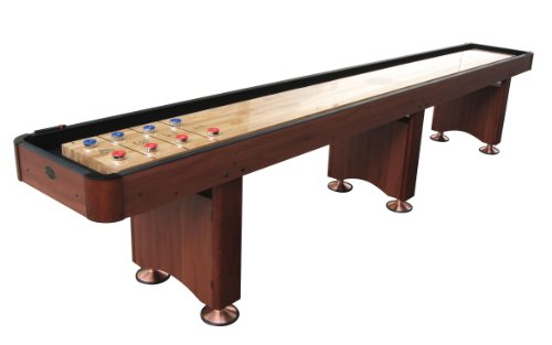 Discover Bargain Playcraft Woodbridge Shuffleboard Table, Cherry, 12-Feet