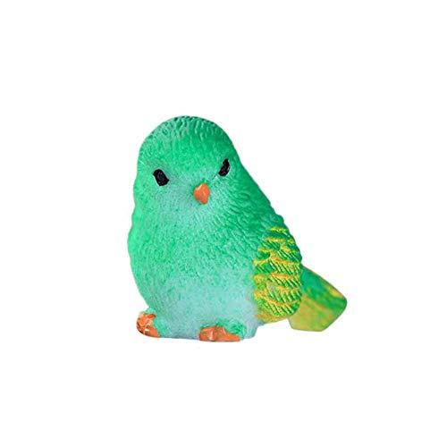 ypypiaol Simulazione Sveglia Uccello Animale Mini Figurine Modello DIY Landscape Garden Ornament Gift Verde