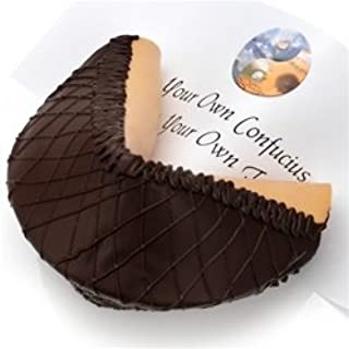 Giant Dark Chocolate Lover's Gourmet Fortune Cookie