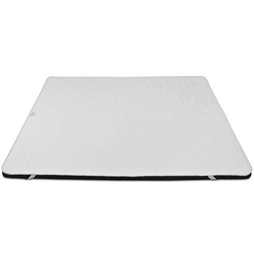 Baldiflex Memory Foam Mattress Topper 135x180 cm H 10 cm with Hypoallergenic Breathable Cover