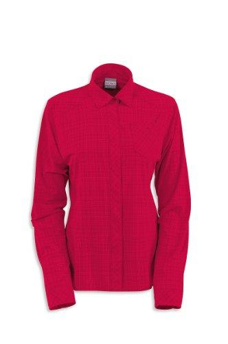 Tatonka Luis Chemise pour Femme à Manches Longues pour Homme FR:38 Rouge - Rouge