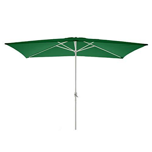 Nexos Sonnenschirm, grün, 200x300 cm quadratisch, Gestell Stahl, Bespannung Polyester, 6 kg