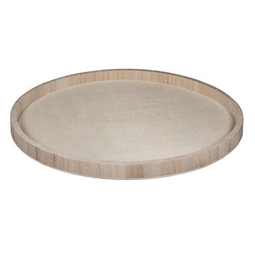 Rayher 62732000 Holz-Schale zum Dekorieren, 40 cm ø, Randhöhe ca. 2,6 cm, Bodenstärke ca. 2 – 3 mm, Holztablett rund