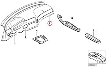 BMW Genuine Interior Right Aluminum I-Panel Decorative Strip Aluminum Shadow 323Ci 325Ci 328Ci 330Ci M3