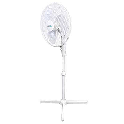 STAYCOOL Lloytron F1221WH Stay Cool Pedestal Fan, 50 W, White, Plastic,