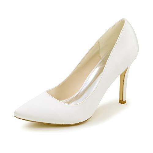 LGYKUMEG Damen Pumps High Heels Klassische Stilettos Spitzen Pfennigabsatz Pumps Slip On Elegant Hochzeit Party Schuhe9.5CM,05,EU38