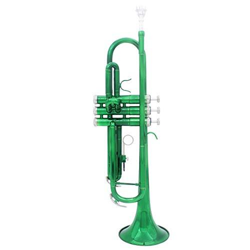 SHMYQQ Bb Trompete Pro Fall Pflege Kit, Nickel plattiert Zwischen Doppel-Braced Bb Trompete Standard B Flach Bb Student Trompete grün