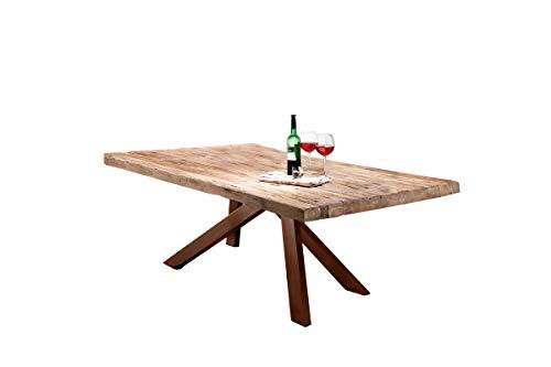 Tables&Co Tisch 180x100 Recyceltes Teak Natur Metall Braun