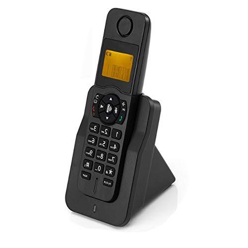RUINAIER Comfort Volume Teléfono Fijo 16 Idiomas Digital inalámbrico Teléfono Fijo con ID de Llamada Handshree Alarma Mute LED Pantalla LED Teléfono inalámbrico para Home Hotel