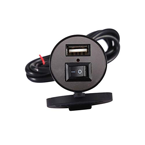 USB installation socket, USB Motorcycle Mobile Phone Power Supply Charger Waterproof Port Socket 12V
