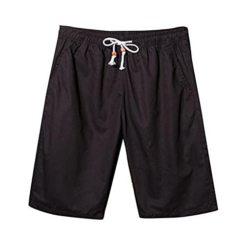 GEU - Pantalón corto de deporte para hombre, pantalón corto de verano, casual, con bolsillo y cordón ajustable, estilo pantalones cortos