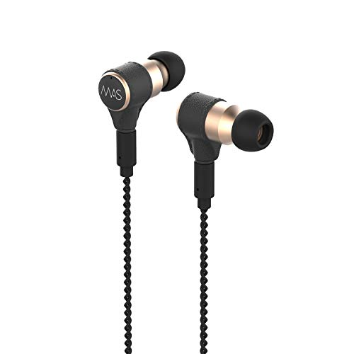 MAS X5i 5-Driver HiFi in-Ear Monitor Headphones with MMCX Silver Plated Audio Cable, Inline Remote Cable with MEMS Microphone