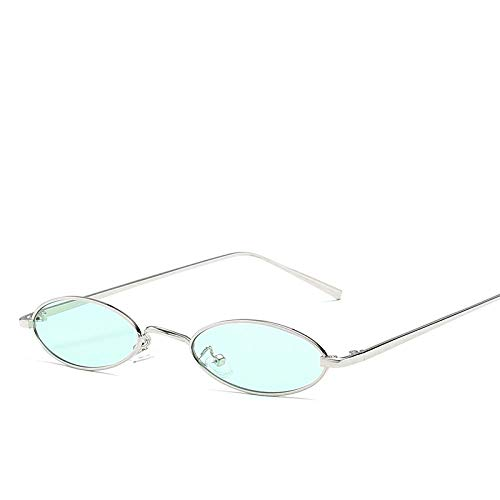 Stijlvolle zomer kleine ovale uv400 zonnebril voor brillen dames heren cool montuur metalen optische vintage retro klassieke brillen groen