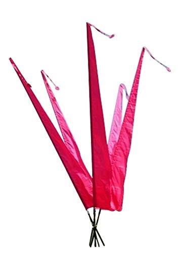 DEKOVALENZ - Gartenfahnen-Stoff DENPASAR mit Herz-Spitze, versch. Farben+Längen, Farbe:pink/Fuchsia, Fahnenlänge:5 Meter
