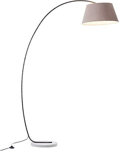 Elegante lampada ad arco con piedistallo, 1,9 x 1,2 m, 1 attacco...