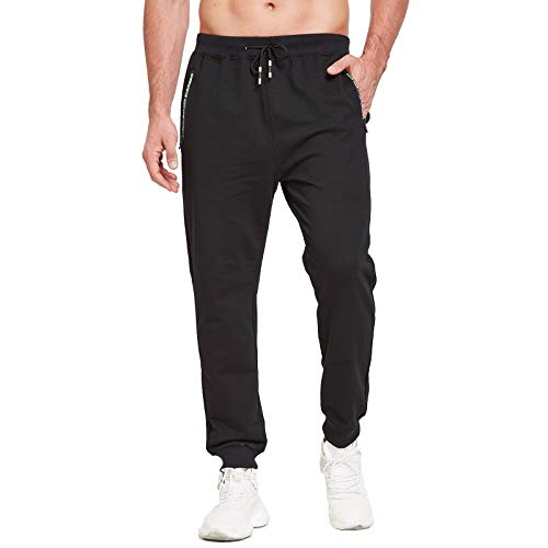 JustSun Pantalones de chándal para hombre, ajustados, para...