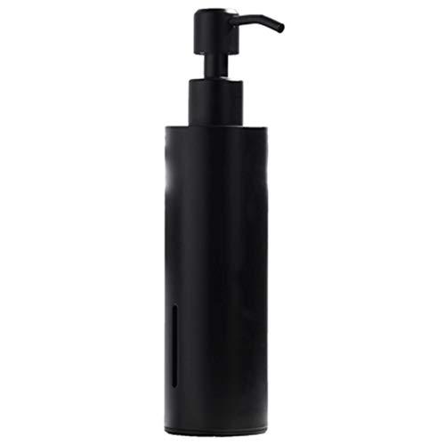 Aveo Seifenspender 304Stainless Stahl Handseife Pump-Platz Seifenflasche Black Metal Pumpflasche Schlafzimmer und Küche (Color : Black, Größe : Round)