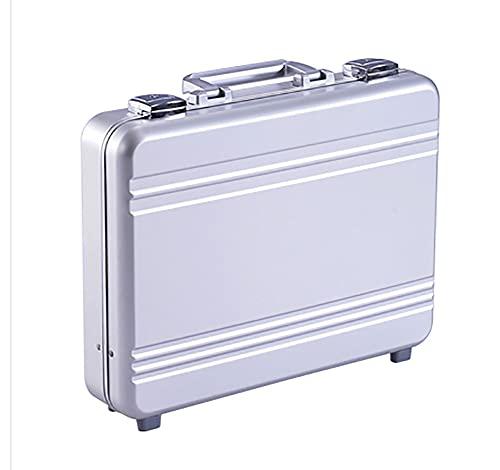 Urecimy Luxury Valigia In Alluminio Laptop Valigetta In Metallo Business Computer Breve Caso degli Strumenti - 16.1x11.8x4.5 Pollici