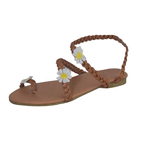 LuckyGirls Loisirs Sandales pour Femmes Appartements Chaussures Femme Bout Ouvert Tongs Pantoufles de Plage
