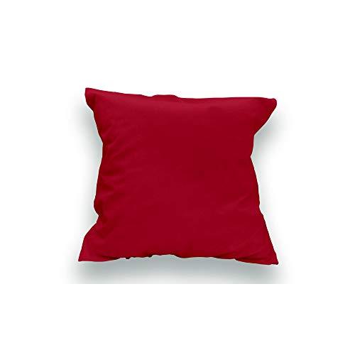 Funda de Almohada Lisa de algodón 65x65 cm roja Soleil D'OCRE