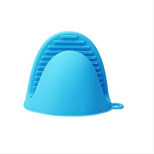 FHFF Ttlife - Guantes de cocina de silicona con aislamiento térmico para horno, color azul