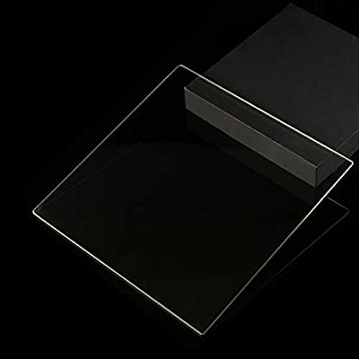 200mm x 213mm x 3mm Tempered Glass Plate for 3D Printers, Flat Glass With Polished Edges