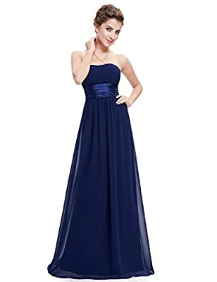 Ever-Pretty Womens Strapless Sweatheart Neckline Floor Length Bridesmaid Dress 12 US Navy Blue