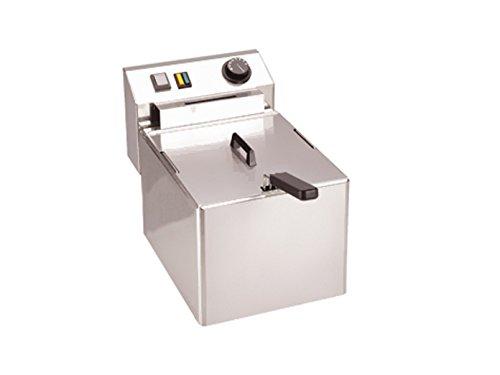 Profi Edelstahl-Fritteuse, 8 Liter, 3000 Watt, Thermostat bis 190°C; FE 07 E GGG