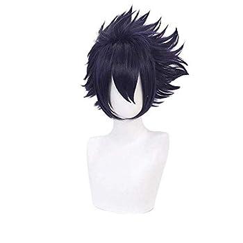 Aadesso Anime Amajiki Tamaki Cosplay Dark Purple Wigs Short for My Hero Academia Cosplay Halloween Wigs