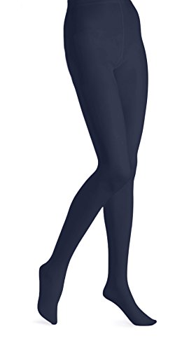 EMEM Apparel Women's Ladies Plus Size Queen Opaque Footed Tights Fashion Hosiery Stockings Navy 3X