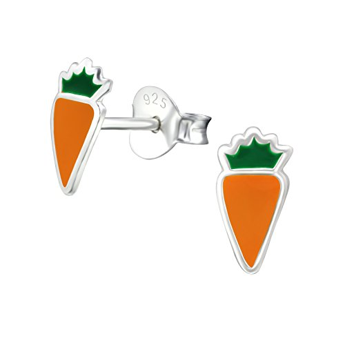 Tata Gisele orecchini da bambino in argento 925/000rodiato e Epoxy–Carrotte–4x 8mm