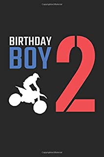 Birthday Boy 2: Dirt Bike Blank Line Diary, Dirt Bike Notebook, Dirt Bike Journal, Dirt Bike Gift - 6x9 - 100 Lined Journal Pages