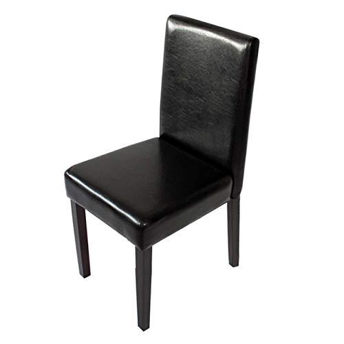 Mendler Esszimmerstuhl Littau, Küchenstuhl Stuhl, Kunstleder - schwarz, dunkle Beine