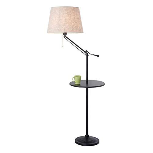 Lampes de chevet Lampadaire Salon Chambre À Coucher De Chevet Lampe De Plancher Plateau De Rangement Lampe De Table Verticale Simple Canapé Lampe De Table Basse (Color : Beige, Size : 40 * 140cm)