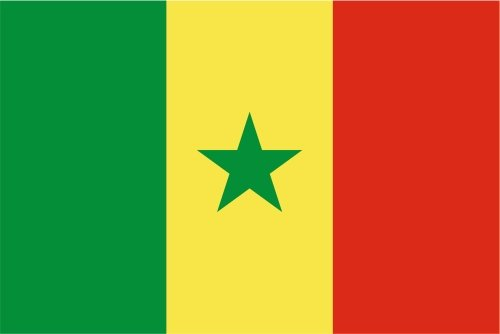 Autoaufkleber Sticker Fahne Flagge Aufkleber 10cm Senegal laminiert sehr lange Haltbar