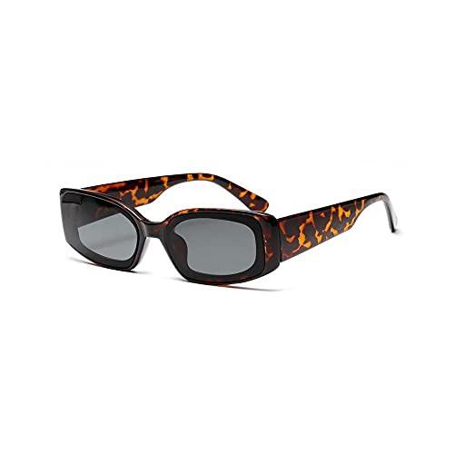Powzz ornament Nuevas gafas de sol cuadradas de moda para mujer / hombre 2021 UV400, gafas de sol de color degradado de aleación, lentes de sol Vintage para hombre-Leopard_Universal