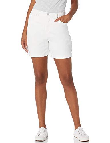 Gloria Vanderbilt Women's Amanda Basic Jean Short, Vintage White, 10