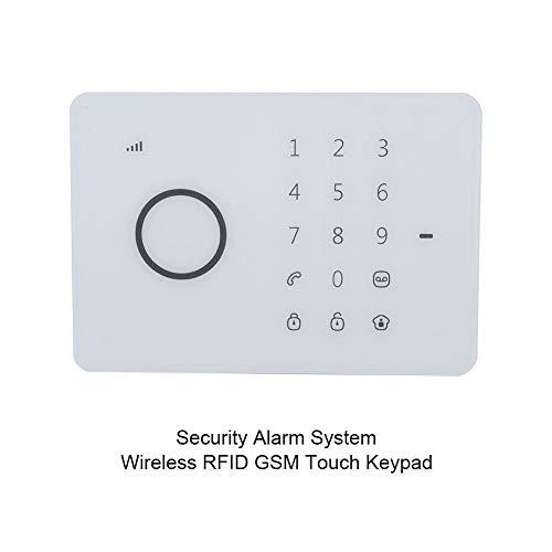 Sistema de alarma inalámbrico de seguridad para el hogar, alarma de teclado táctil inalámbrico RFID GSM, soporte de conversación bidireccional, detección de movimiento PIR