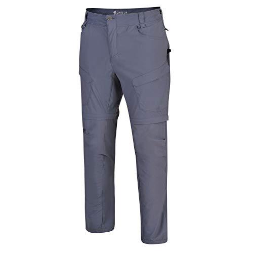 Dare 2B - Pantaloni da Uomo Tuned in II, con Tasche Multiple con Zip, Lunghezza Regolare, Uomo, Pantaloni Bambino, DMJ408R, Grigio, 38W