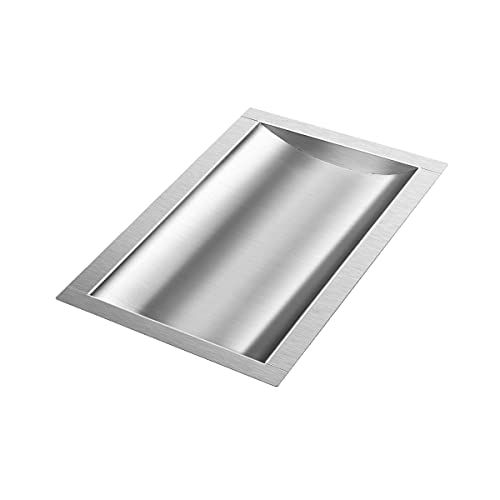 Marada 10 L x 16 W x1.6 H Drop-in Deal Tray All Brushed 304 Stainless Steel Window Tray High Standard Drop-in Deal Tray