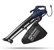 WOLFGANG 3 in 1 Bladblazer, Elektrische Tuinblazer, Shredder en Vacuüm, 35 Liter Zak, Gesnoerde Bladblazer, Lichtgewicht...