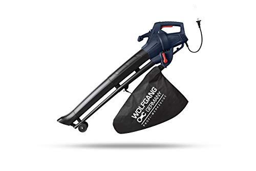 WOLFGANG Sopladora trituradora aspiradora, Herramienta de jardín, Limpieza de hojas, exteriores cuidados y limpios, bolsa de recogida 35 L