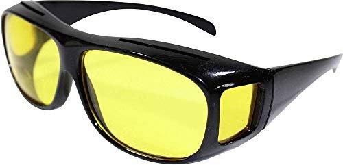 HP Pfefferkorn Überzieh-Nachtsichtbrille covering night vision glasses Brillenträger Nacht Regen Nebel Gegenlicht polarisierende Brillengläser inkl. Brillenhülle