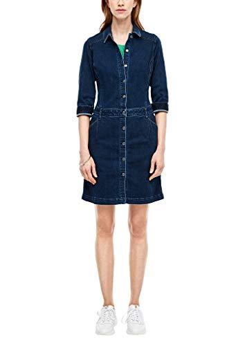 s.Oliver Damen 14.001.82.3947 Kleid, Blue, (Herstellergröße: 44)