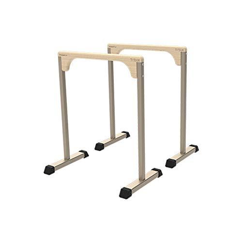 Paraleletas, Barras paralelas para el Fitness en el Hogar, Estación de Dip Funcional Resistente, Barra de inmersión Estabilizador Paralelo, Barras paralelas de gimnasia, Equipo Calistenia 76×45×89 cm