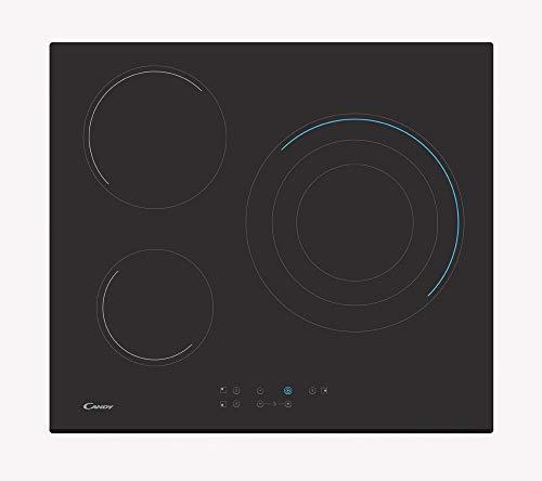 Candy keramische kookplaten ch63tvt, glas keramische kookplaat, zwart, 590 x 520 x 46,5
