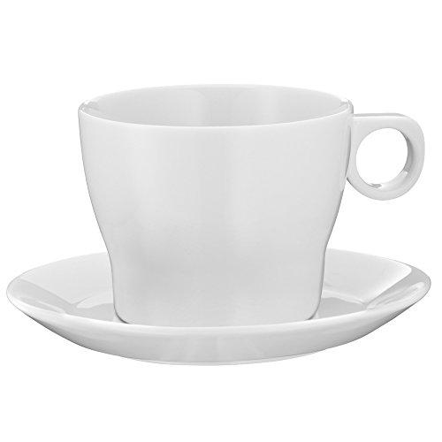 WMF Barista Café au Lait Tasse, mit Untertasse, Porzellan, spülmaschinengeeignet, 225 ml