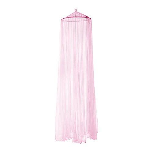 Runt myggnät sänghimmel flugnät myggnät för enkel/dubbelsäng rosa