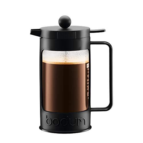 Bodum BEAN Kaffeebereiter für 8 Tassen (Press Filter System, Isoliert, Auslaufschutz, 1,0 liters) schwarz